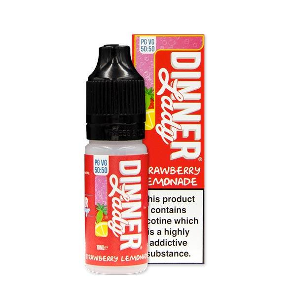 10 ml Dinner Lady 50PG/50VG - Strawberry Ice Lemonade 12 mg/ml
