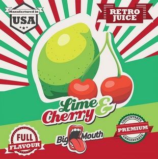 10 ml Big Mouth Lime & Cherry