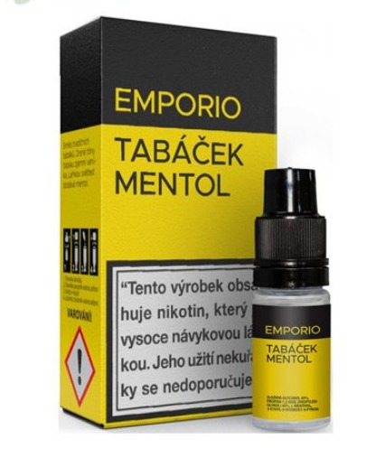 10 ml Emporio - Tabáček Mentol 3 mg/ml