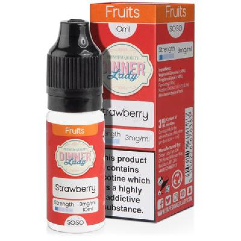 10 ml Dinner Lady 50PG/50VG - Strawberry 12 mg/ml