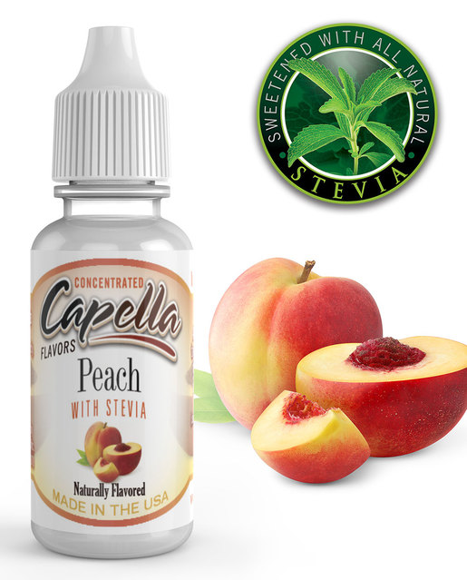 13 ml Capella Peach with Stevia