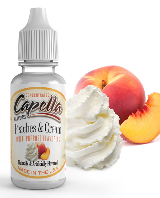 13 ml Capella Peaches & Cream