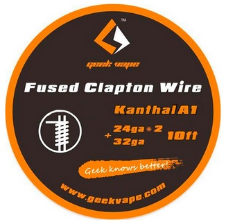 Geekvape Kanthal A1 Fused Clapton Wire (AWG 2x24/32) 10 ft - cívka