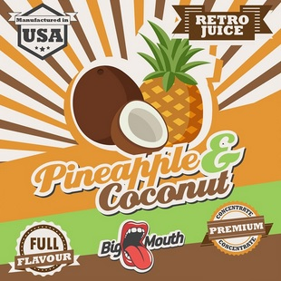 1,5 ml Big Mouth Pineapple & Coconut