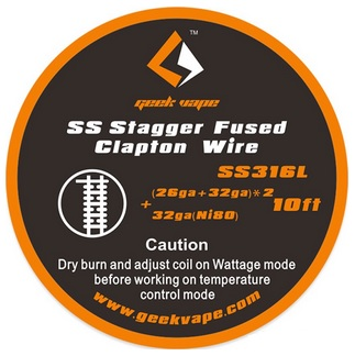 GeekVape SS316 Stagger Fused Clapton Wire - 30 cm