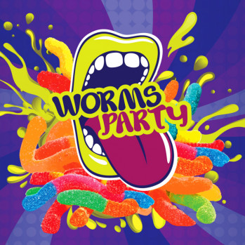 10 ml Big Mouth Worms Party