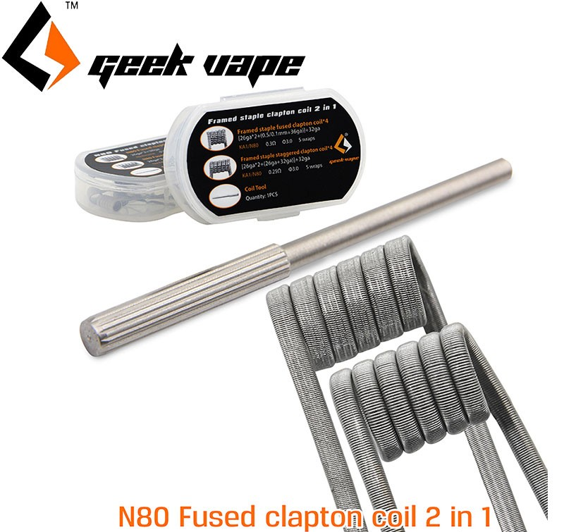 8 ks GeekVape N80 Fused Clapton Coil 2 In 1