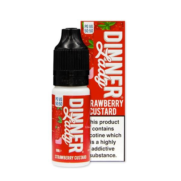 10 ml Dinner Lady 50PG/50VG - Strawberry Custard 12 mg/ml