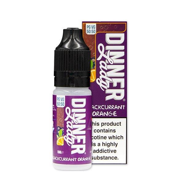 10 ml Dinner Lady 50PG/50VG - Blackcurrant Orange 12 mg/ml