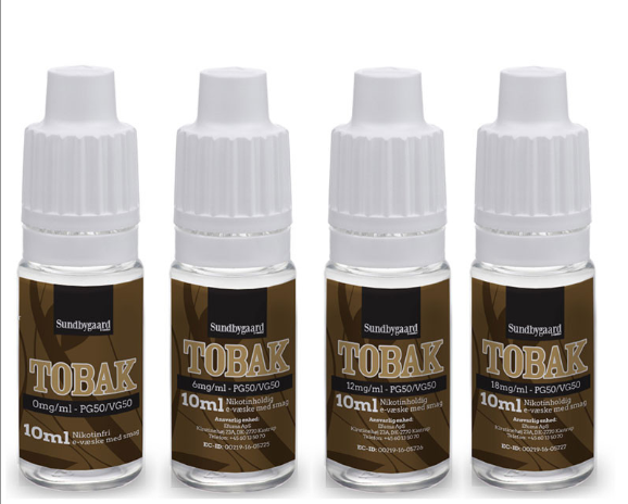 10 ml Sundbygaard - Tobak 6 mg/ml