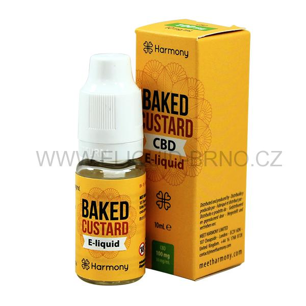 10 ml Harmony CBD Vape Liquid - Baked Custard 100mg (1%)
