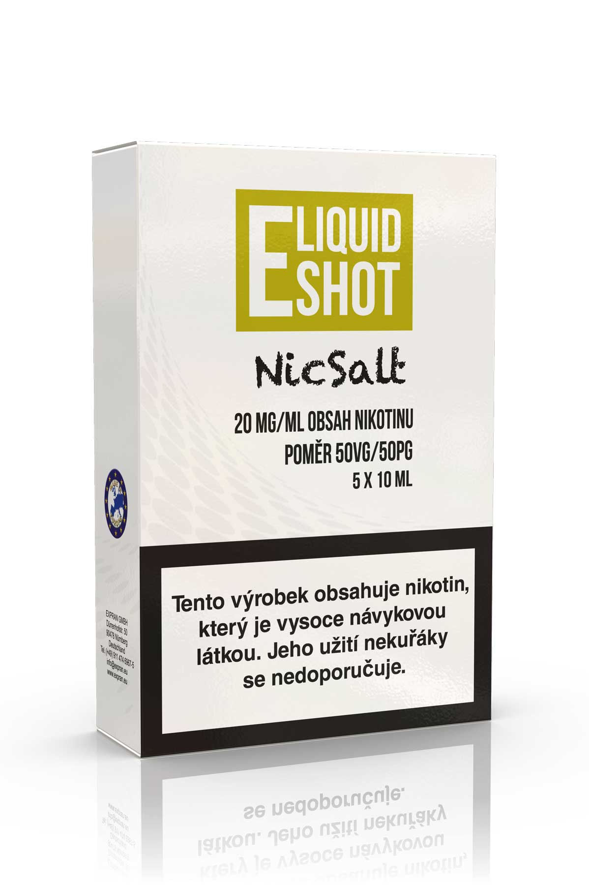 5 pack E-Liquid Shot Booster NicSalt 50PG/50VG 20 mg/ml