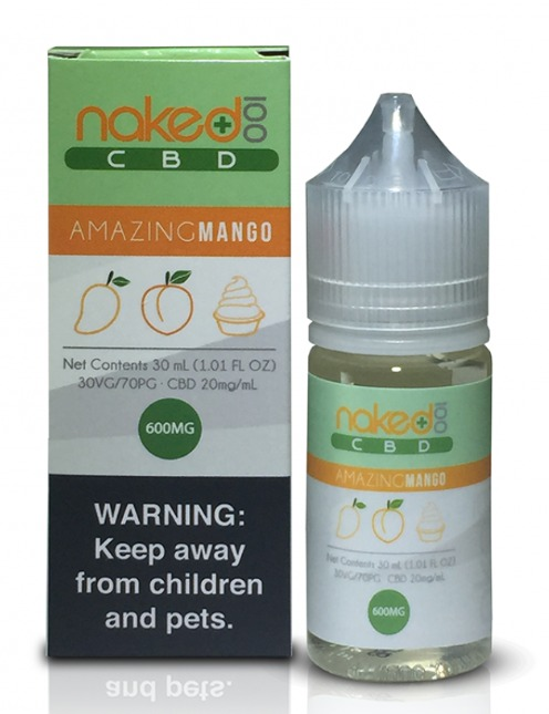 30 ml Naked 100 CBD - Amazing Mango 600mg