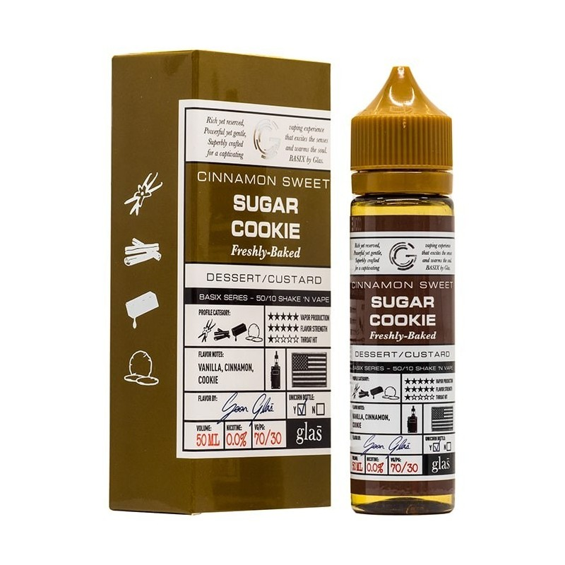 50 ml Glas - Cinnamon Sweet Sugar Cookie (Shake & Vape)