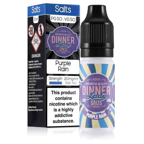 10 ml Dinner Lady Nic. Salts - Purple Rain 20 mg/ml
