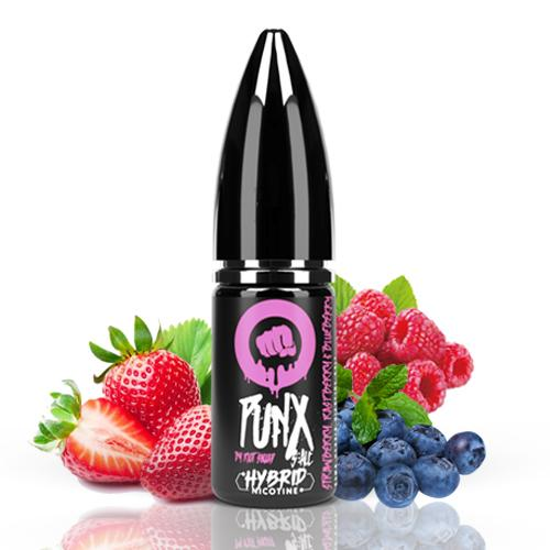 10 ml Riot Squad Punx Salts - Strawberry Raspberry & Blueberry 20 mg/ml