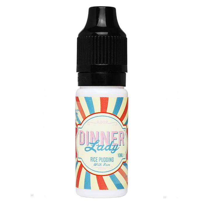 10 ml Dinner Lady 30PG/70VG - Rice Pudding 6 mg/ml