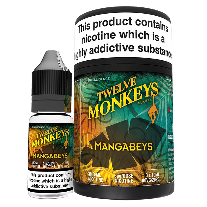 10 ml Twelve Monkeys - Mangabeys 3 mg/ml