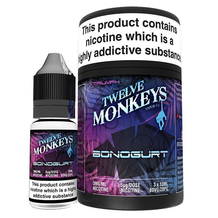 10 ml Twelve Monkeys - Bonogurt 3 mg/ml