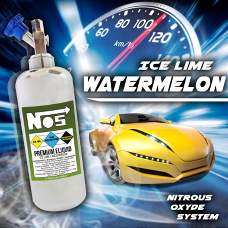 50ml Nos - Ice Lime Watermelon 0 mg/ml