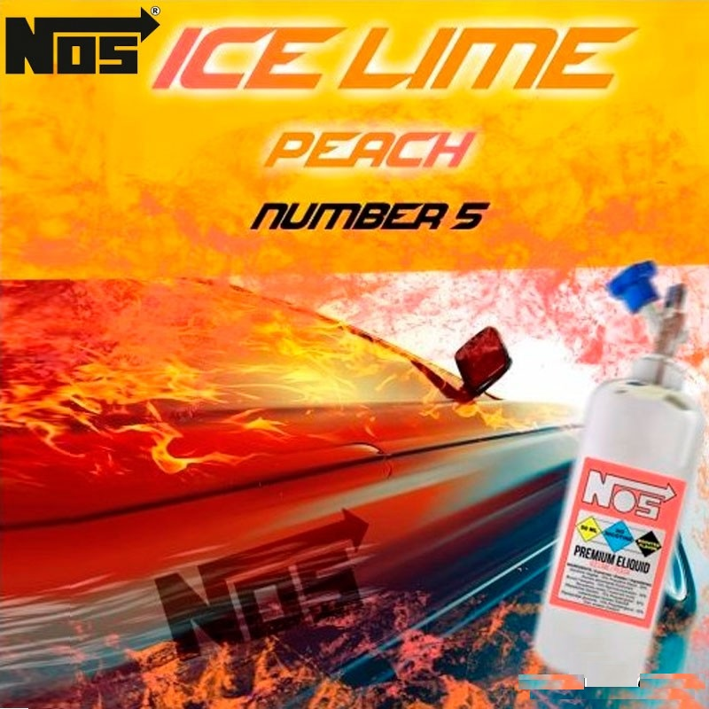 50ml Nos - Ice Lime Peach 0 mg/ml