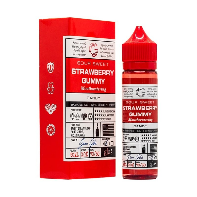 50 ml Glas - Strawberry Gummy ZHC Mix Series 0 mg/ml