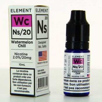 10 ml Element Nic. Salts - Watermelon Chill 20 mg/ml