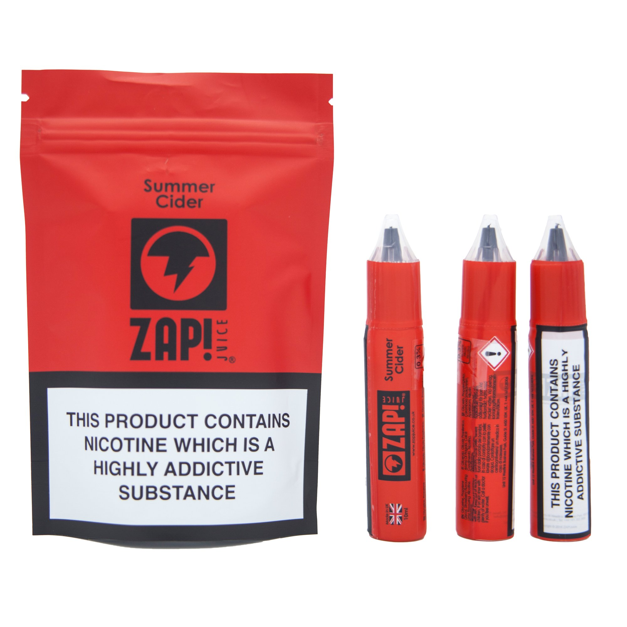10 ml ZAP! Juice - Summer Cider 3 mg/ml