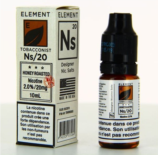 10 ml Element Nic. Salts - Honey Roasted 20 mg/ml