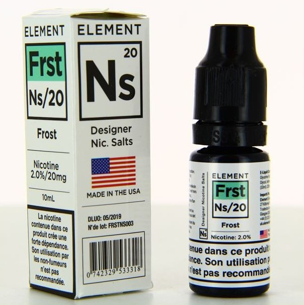 10 ml Element Nic. Salts - Frost Designer 20 mg/ml