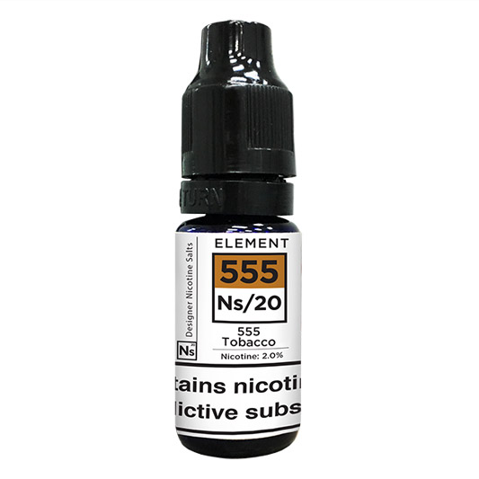 10 ml Element Nic. Salts - 555 Tobacco 20 mg/ml