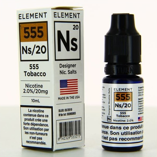 10 ml Element Nic. Salts - Classic 555 20 mg/ml