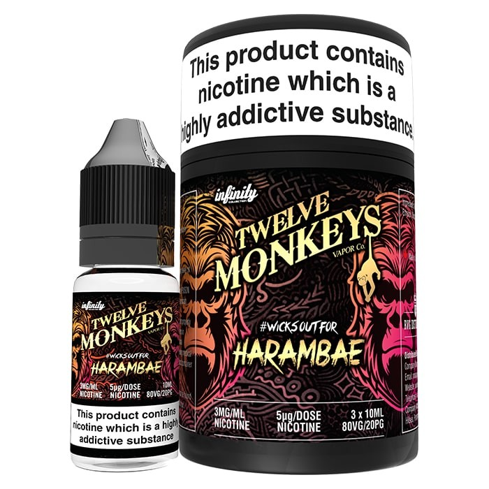 10 ml Twelve Monkeys - Harambae 3 mg/ml