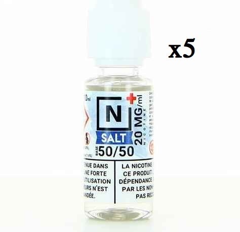 5 x 10 ml Extrapure Booster 50/50 Nic. Salts 20 mg/ml