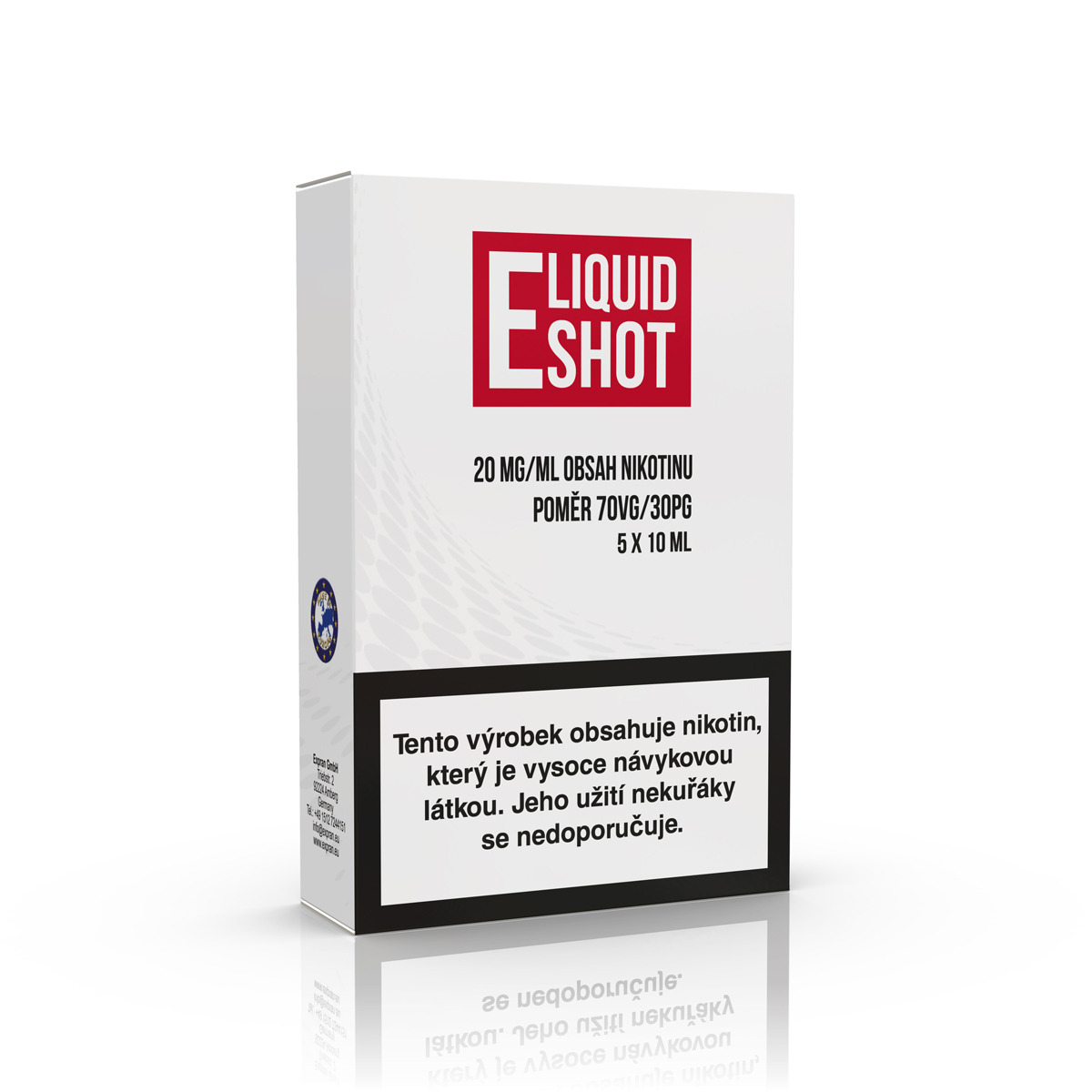 5 pack E-Liquid Shot Booster 30PG/70VG 20 mg/ml
