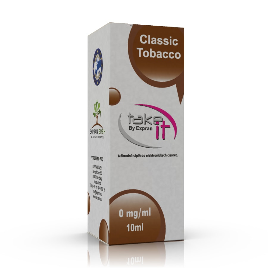 10 ml Take It - Classic Tobacco 6 mg/ml
