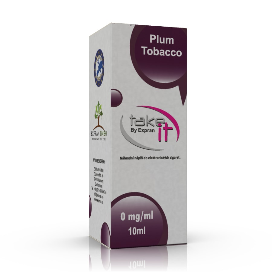 10 ml Take It - Plum Tobacco 0 mg/ml