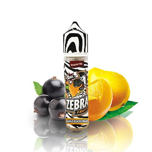 50 ml Zebra Juice Fruitz - Mango Blackcurrant (Shake & Vape)