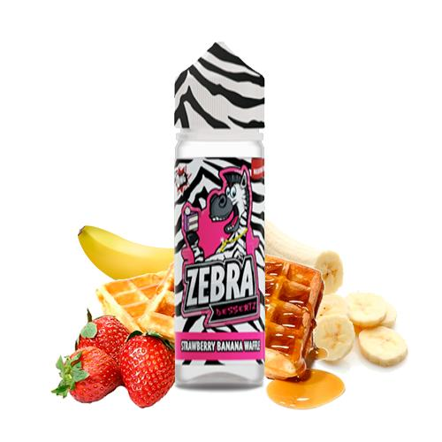 50 ml Zebra Juice Dessertz - Strawberry Banana Waffle (Shake & Vape)