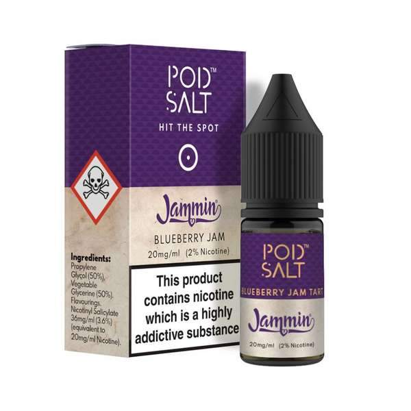 10 ml Pod Salt - Blueberry Jam Tart 20 mg/ml