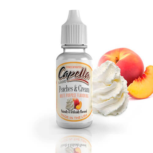 13 ml Capella Peaches & Cream V2